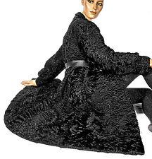 L Persianer Mantel Pelzmantel Pelz SWAKARA black persian lamb fur coat karakul