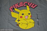 Pokemon Go Gift Catch Pikachu Sweatshirt Anime Cosplay Size XL Steel Gray Shirt