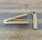 ANTIQUE Tools Boxwood Folding Rule & Vernier Caliper Measuring Tool STANLEY USA