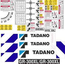 Tadano GR-300XL Crane Decal Kit - very high quality aftermarket decals