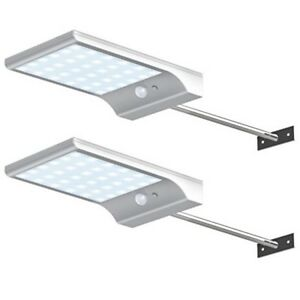 Solar Gutter Lights Wall Sconces Outdoor Motion Sensor Mounting Pole New