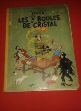 Tintin 7 Bolas Cristal 4B22BIS 1957 Mochila Amarillo Casterman Herge Condición