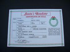 "Danbury Mint 1931 Ford Model A ""Santa's Deluxe Roadster"" Certificate of Title"