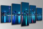 Cuadro fotografico Ciudad Toronto Noche, Base Madera 145x62 cm, ref.26029