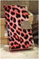 Cover rigida a libro leopardata bordi decorati colori a scelta per Iphone 4 e 4s