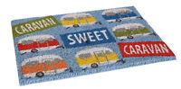 """Quest Heavy Duty Coir 'Caravan Sweet Caravan"""" Door Mat"""