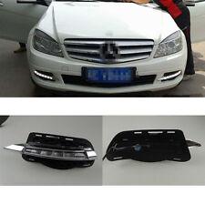Car LED Daytime Running Lights DRL For Mercedes Benz W204 C260 C300 2008~2011