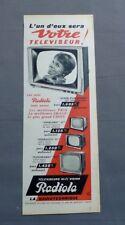 PUB PUBLICITE ANCIENNE ADVERT CLIPPING 011117 / TELEVISEUR HI-FI VISION RADIOLA