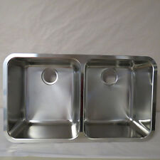 "FRANKE LAX12034 LARGO DOUBLE BOWL UNDERMOUNT SINK 32 1/4"" x 17 1/2"" BOXED AS IS"