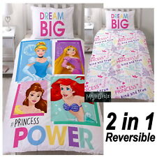 DISNEY PRINCESS BRAVE SINGLE PANEL DUVET COVER SET 2 in 1 GIRLS BEDDING