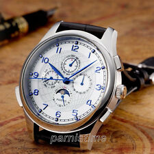 Parnis Automatic Movement Men's Watch 44mm Stainless Steel Case Month Day Show