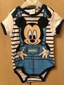 Disney Mickey Mouse Baby Body Bodydress Baumwolle Kinder Jungen