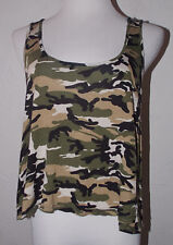 ad694bdd718d1 Wet Seal Juniors Tank Top Large Camouflage Floral Lace Sheer Back Summer  Beach