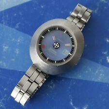Vintage ZODIAC Astrographic Mystery Dial Lady Watch Running Condition Stainless