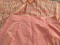 Vintage Womens Rutledge Faultless Lady Nobelt Pajamas  Size 20  40 Pink New WT