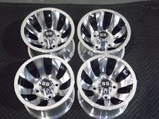 "CLUB CAR 10"" GOLF CART REVOLVER ALUMINUM  WHEELS / RIMS (SET OF 4) 10AR12 6C"