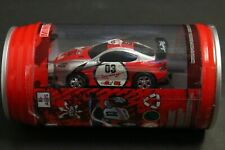 Mini RC Car in a Can with Charger & Remote, Headlights Light Up, Red Car Racers