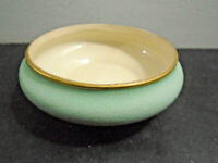 VINTAGE AMOGES HAND PAINTED BLUE GOLD TONE TRIM BOWL 3 7/8""