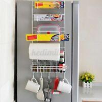 5 Tier Refrigerator Side Rack Wall Holder Kitchen Fridge Storage Organizer US