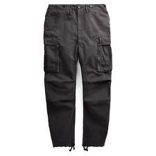 $390 NWT New RRL Ralph Lauren 1950s  Black Cargo Flight Pant Men's 32