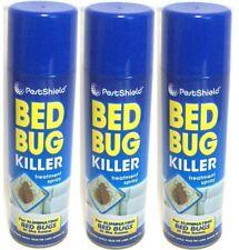 Kill Bed Fleas Bug Killer Treatment Spray Mattress Carpet 3 X 200ml Pestshield
