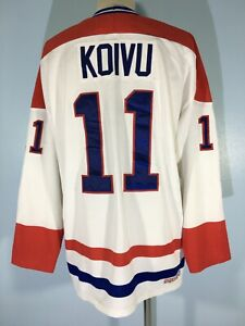 SAKU KOIVU MOTREAL CANADIENS CCM ICE HOCKEY NHL TEEs SHIRT MESH JERSEY XL