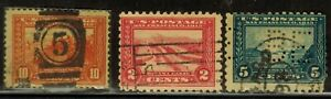 United States #400a,402-403 1913-15 Used