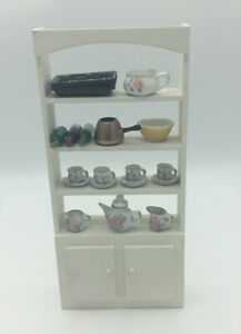 Dolls House Shelf Unit With Accessories
