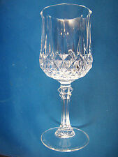 "Cristal d'Arques Longchamp Wine Glass 4 ounce 6 1/2"" tall 24% Lead Crystal @24"