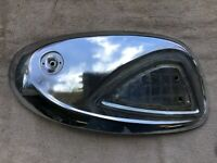 1968 SUZUKI S32 2 150 Olympian PARTS gas tank chrome cover LEFT side panel fuel