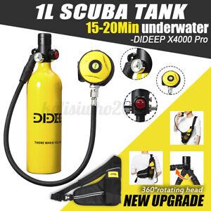 DIDEEP 1L SCUBA Tauchausrüstung Sauerstoffflasche Unterwasseratemgerät Set Gelb