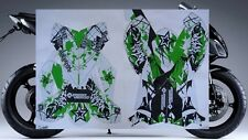2008-2010 Kawasaki Ninja ZX10 ZX10R HIGH-GLOSS GREEN GRAPHICS KIT