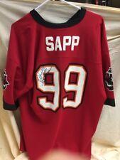 Warren SAAP Autographed Tampa Bay Buccaneers Red Jersey BUCS with COA