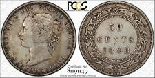 1898 Newfoundland 50 Cents PCGS XF-40 Small W Die Crack