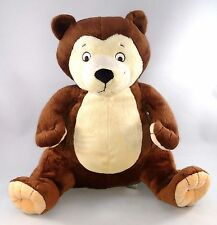 "EUC "" SAM BEAR"" BOOKS by Amy Hest Stuffed Plush Toy Animal Brown &Tan TEDDY BEAR"