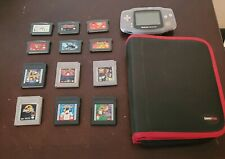 Glacier Gameboy Advance With Case And 12 Games