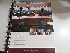 COM 101 Course Supplement Spring 2012 Central Michigan University  CMU