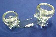 Kerzenleuchter Teelichtlichthalter für 2 Teelichter - Glas formano