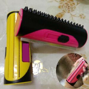 Pet Dog Cat Hair Fur Deshedding Shedding Trimmer Grooming Roll Comb Brush Tool