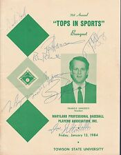 Baltimore Orioles signed 1984 Topps in Sports Banquet program 10 signatures!