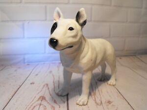 English Bull Terrier Statue Figure Figurine White Black Bull Terrier Ornament