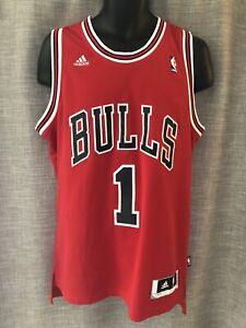 Derek Rose Chicago Bulls Jersey Adidas Medium Extra Long