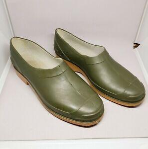 Rontani Italy Garden Rain Shoes Rubber Galoshes Green Mens_Womens Sz 9 US 43 EU