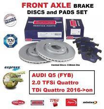 Para Audi Q5 2.0 TFSI Tdi Quattro 2016-on Eje Delantero Freno Pastillas + Discos