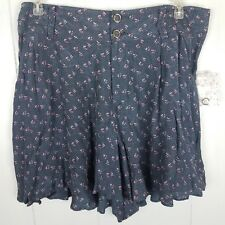 Free People Shorts Size M Gray pink floral womens