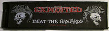 Exploited Collectable Rare Patch English Woven Metal 2004