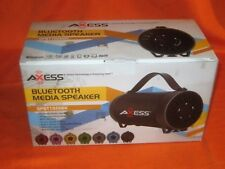 Axess Spbt1056BK Portable Bluetooth Speaker - BLACK