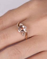 Vintage Lyk 2Ct Oval Cut Pink Morganite Diamond Engagement Ring Rose Gold Finish