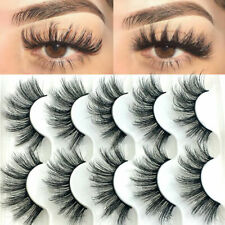 10 Pairs Mink False Eyelashes Wispy Cross Fluffy Extension Lashes Makeup