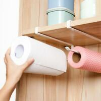 Practical Kitchen Toilet Paper Towel Roll Holder Cabinet Hanging Shelf Organizer